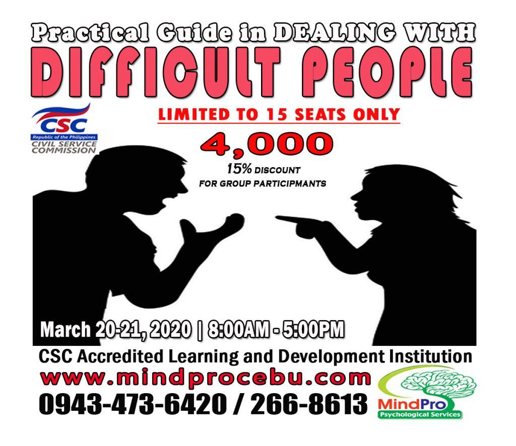 difficult people, people management, understanding people, personal behavior, people skill